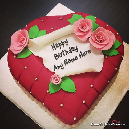 Best ideas about Happy Birthday Cake Pictures With Name . Save or Pin 100 Most Beautiful Birthday Cake With Name & Now.