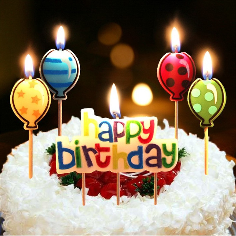 Best ideas about Happy Birthday Cake With Candles . Save or Pin Aliexpress Buy 5PCS Happy Birthday Candle Cake Now.