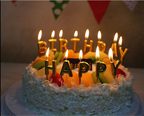 Best ideas about Happy Birthday Cake With Candles . Save or Pin Unique Gold Birthday Letter Cake Candles Funny Birthday Now.