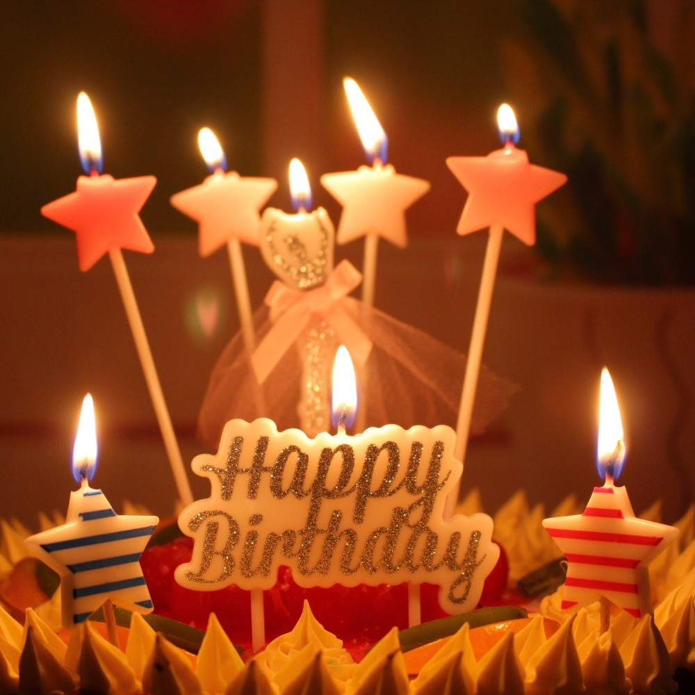 Best ideas about Happy Birthday Cake With Candles . Save or Pin Glittering Cake Candle Gold Topper Wedding Party Cake Now.