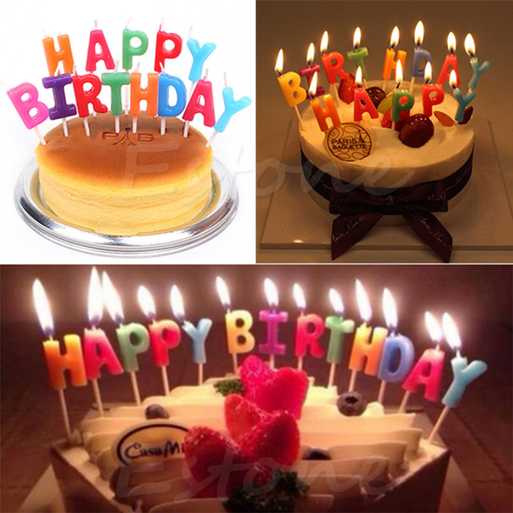 Best ideas about Happy Birthday Cake With Candles . Save or Pin Happy Birthday Letter Candles Toothpick Cake Cute Candle Now.