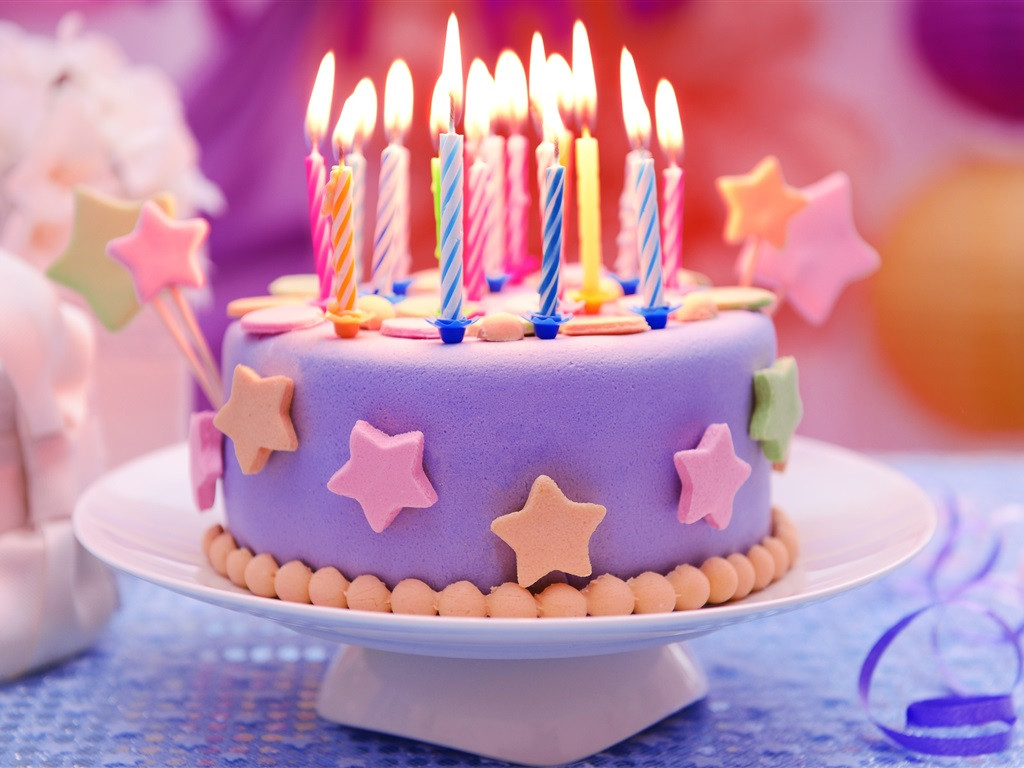 Best ideas about Happy Birthday Cake With Candles . Save or Pin Wallpaper Happy Birthday cake candles stars Now.