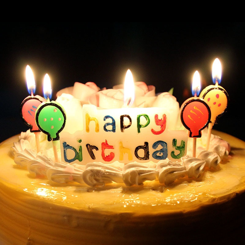 Best ideas about Happy Birthday Cake With Candles . Save or Pin XUNZHE Birthday Cake Candles Creative Kid s Happy Birthday Now.