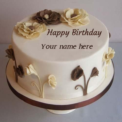 Best ideas about Happy Birthday Cake With Name Free Download . Save or Pin generate flower decorated birthday cakes with name edit Now.