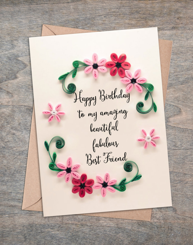Best ideas about Happy Birthday Card For Best Friend . Save or Pin Valentine present Best Friend Birthday Card Girlfriend Now.
