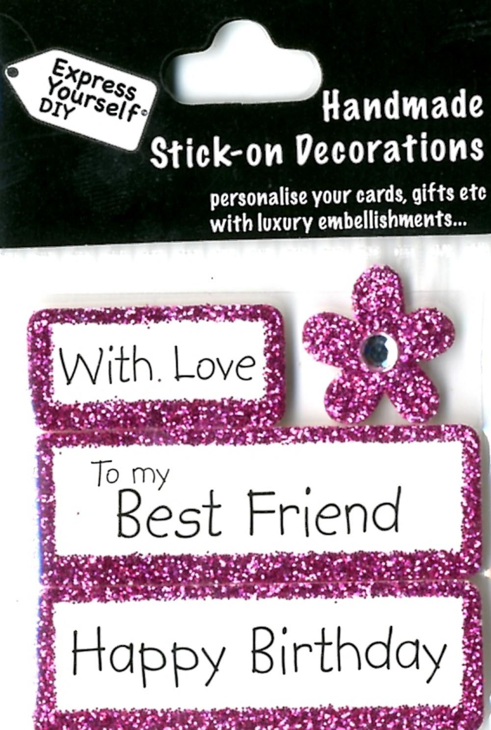 Best ideas about Happy Birthday Card For Best Friend . Save or Pin Happy Birthday Best Friend DIY Greeting Card Toppers Now.