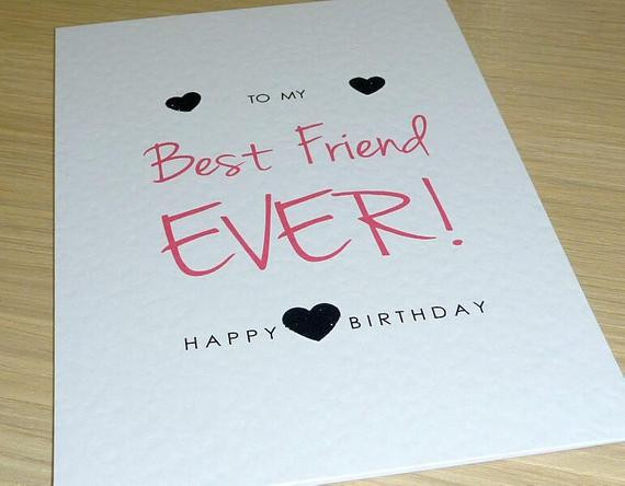 Best ideas about Happy Birthday Card For Best Friend . Save or Pin Female Happy Birthday card teenage girl Best Friend Ever Now.