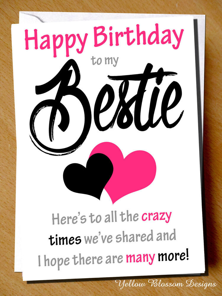 Best ideas about Happy Birthday Card For Best Friend . Save or Pin Funny Cheeky Happy Birthday Card Best Friend Bestie Now.
