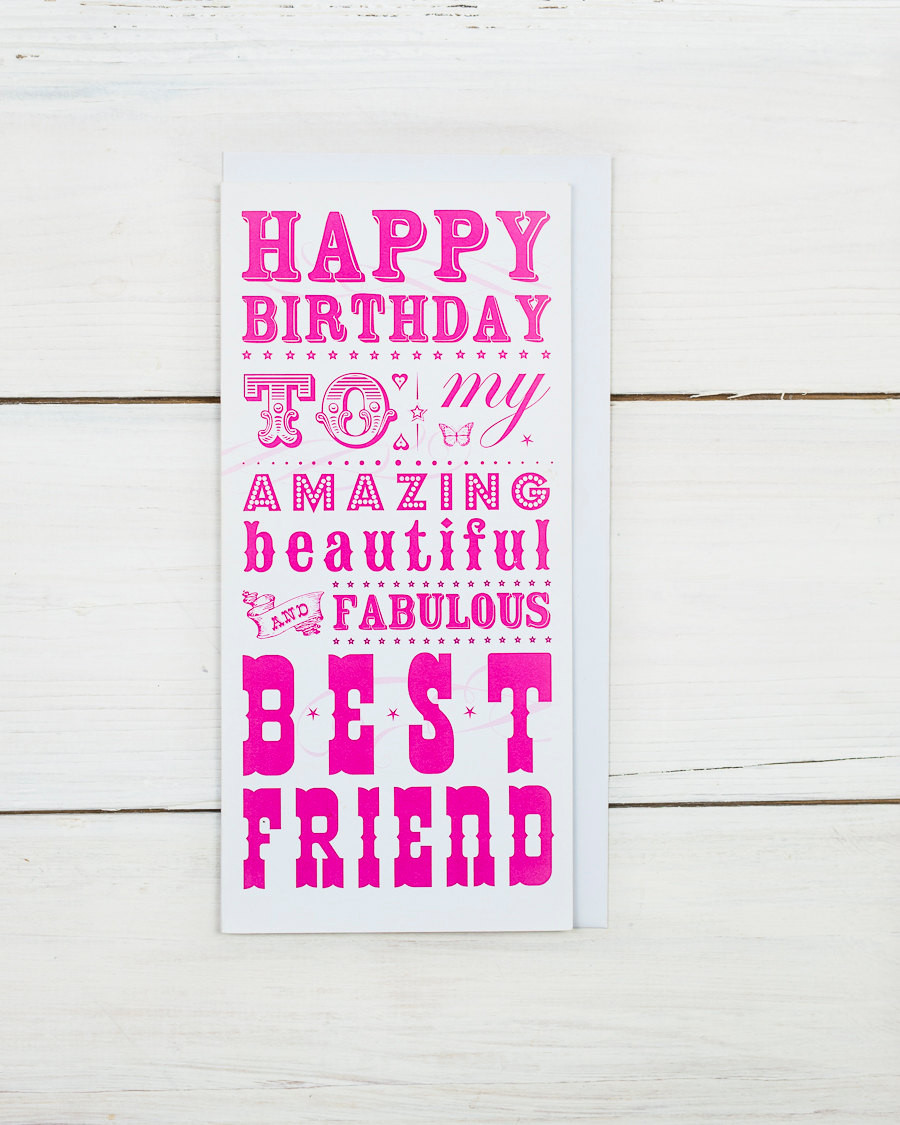 Best ideas about Happy Birthday Card For Best Friend . Save or Pin Happy Birthday Best Friend Card Now.