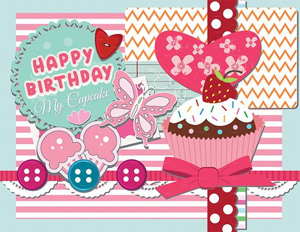 Best ideas about Happy Birthday Card Template . Save or Pin Birthday Card Template 11 PSD Illustrator EPS Format Now.