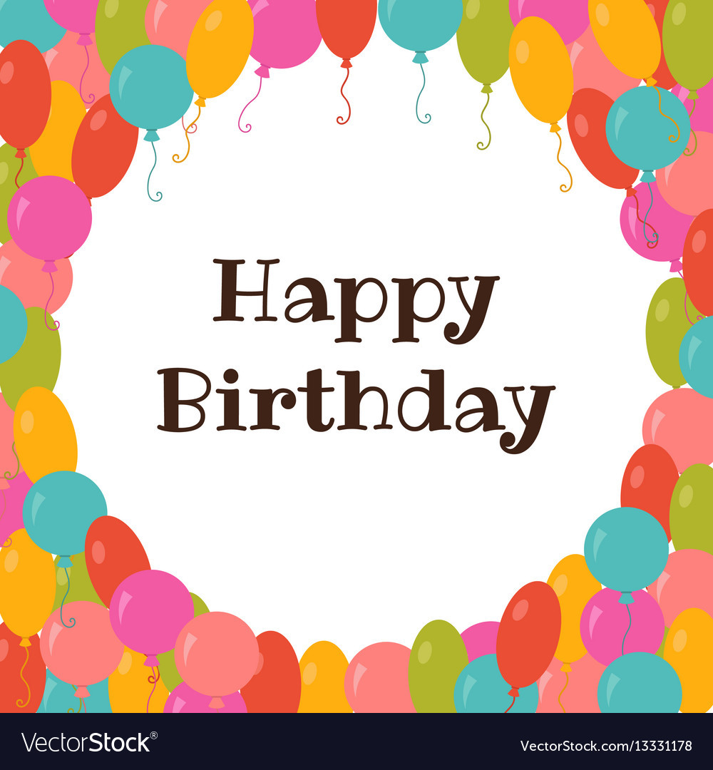 Best ideas about Happy Birthday Card Template . Save or Pin Happy birthday card template with colorful Vector Image Now.