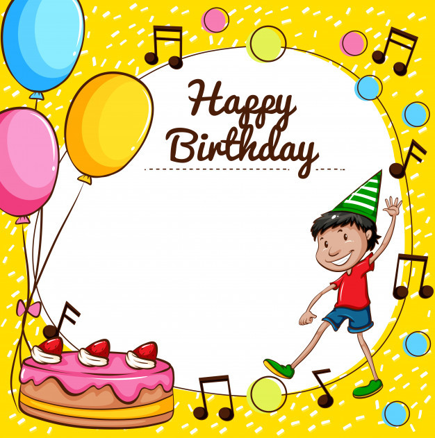 Best ideas about Happy Birthday Card Template . Save or Pin Happy birthday card template Vector Now.