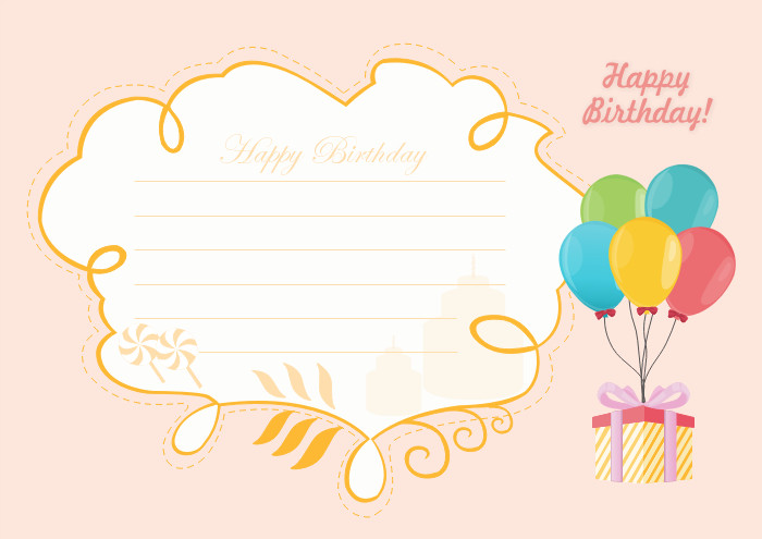 Best ideas about Happy Birthday Card Template . Save or Pin Free Editable and Printable Birthday Card Templates Now.