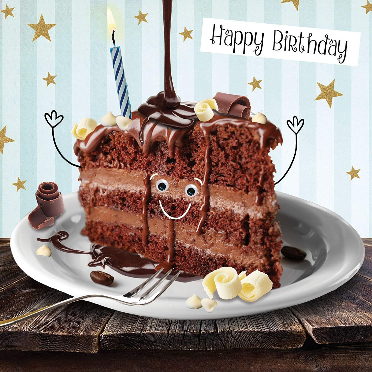 Best ideas about Happy Birthday Choco Cake . Save or Pin Funny Chocolate Cake Birthday Card 3D Goggly Moving Eyes Now.