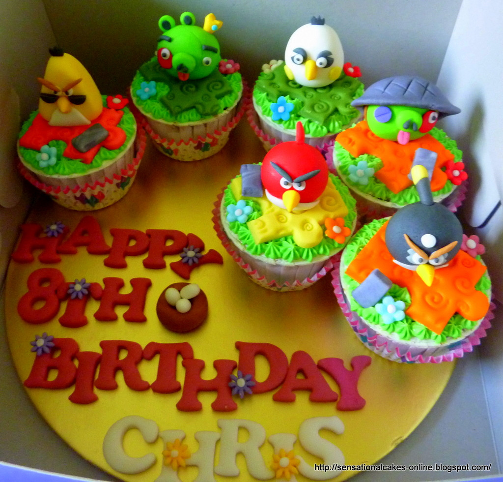 Best ideas about Happy Birthday Chris Cake . Save or Pin 30 x 3D A Birds Figurines for Chris 8th Birthday CAKES Now.