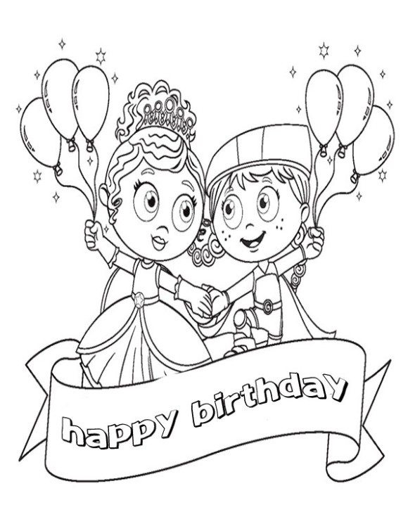 Best ideas about Happy Birthday Coloring Pages For Girls . Save or Pin Disney Colouring Pages Belle Princess Coloring Pages For Now.