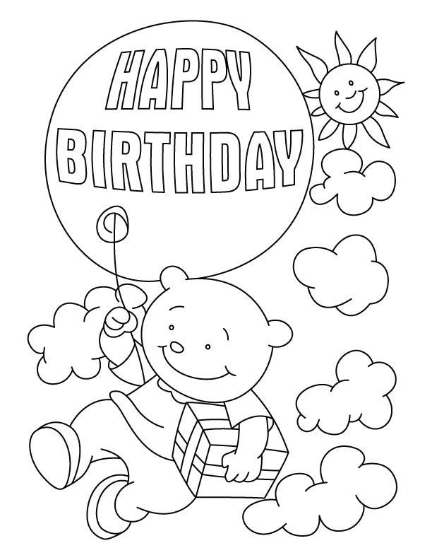 Best ideas about Happy Birthday Coloring Pages For Girls . Save or Pin Happy Birthday Coloring Pages For Girls AZ Coloring Pages Now.