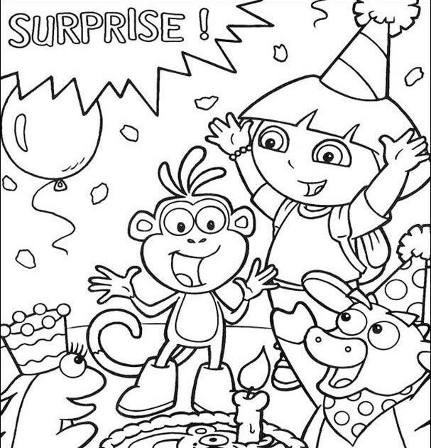 Best ideas about Happy Birthday Coloring Pages For Girls . Save or Pin happy birthday coloring pages for girls Now.