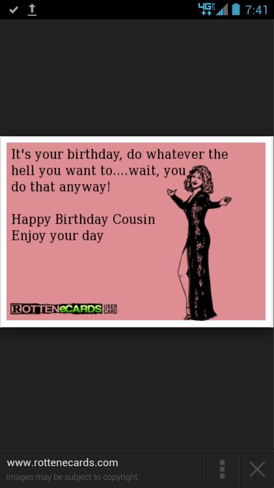 Best ideas about Happy Birthday Cousin Funny . Save or Pin 73 best images about Happy Birthday Cousin on Pinterest Now.