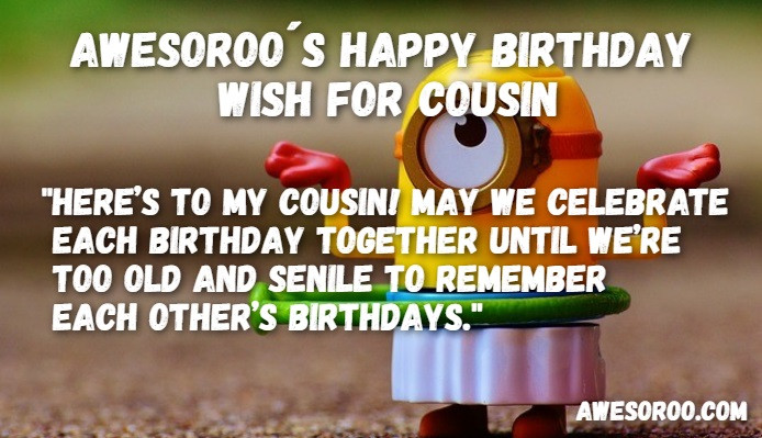 Best ideas about Happy Birthday Cousin Funny . Save or Pin 204 [BEST] Happy Birthday Cousin Status Quotes & Wishes Now.