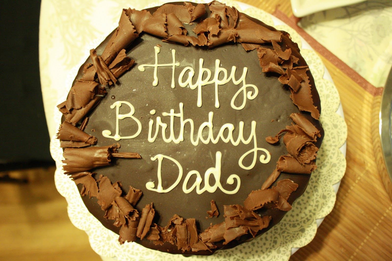 Best ideas about Happy Birthday Dad Cake . Save or Pin A Cake Story Dad s Dark Chocolate Ganache Covered Fresh Now.
