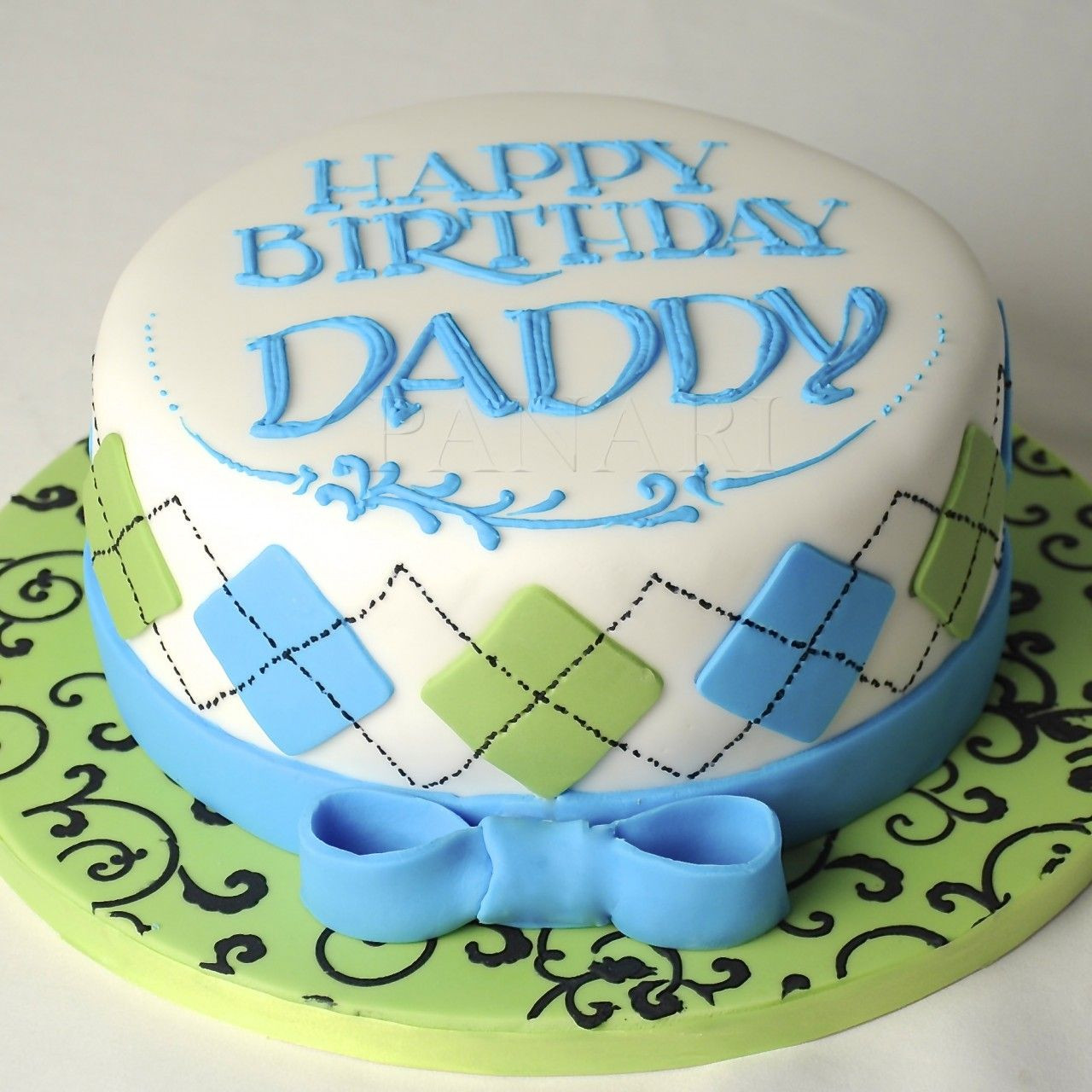 Best ideas about Happy Birthday Dad Cake . Save or Pin Argyle pattern cake cm0175 in 2019 CAkes Now.