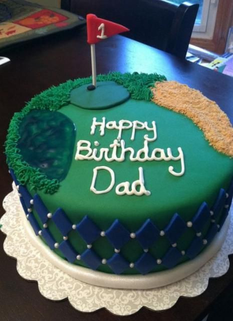 Best ideas about Happy Birthday Dad Cake . Save or Pin Golf theme birthday cake for dad JPG Now.