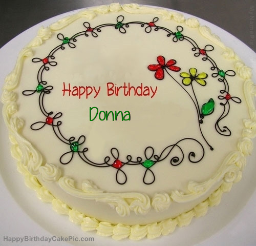 Best ideas about Happy Birthday Donna Cake . Save or Pin Birthday Cake For Donna Now.
