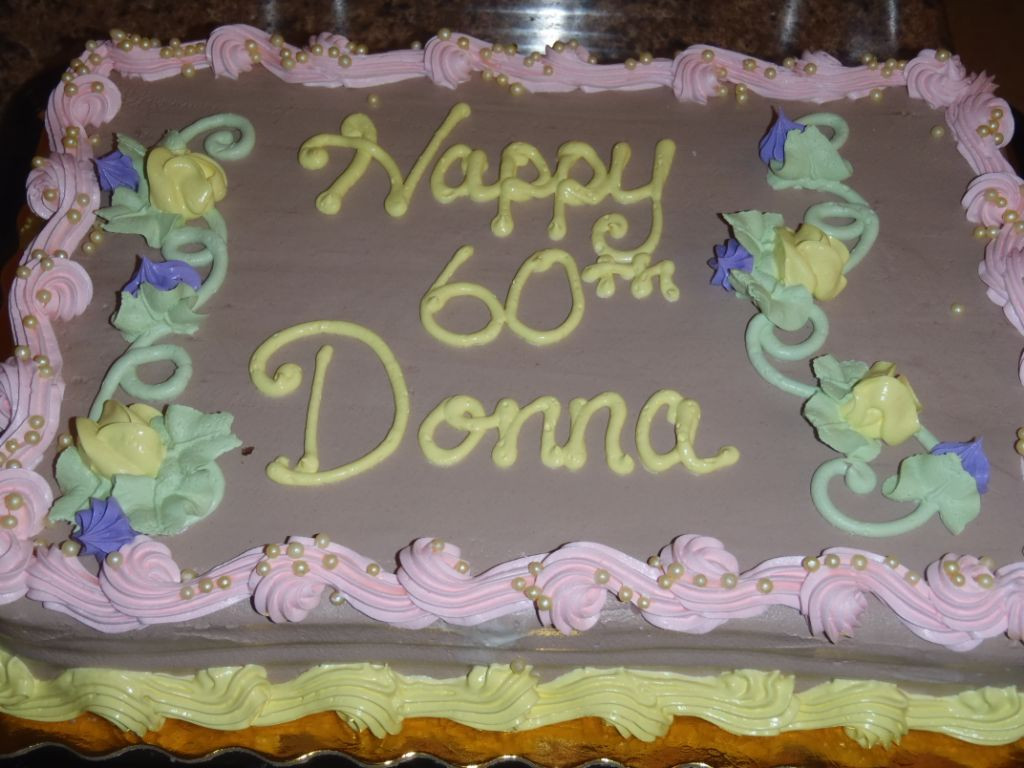 Best ideas about Happy Birthday Donna Cake . Save or Pin Happy 60th Birthday Donna Now.