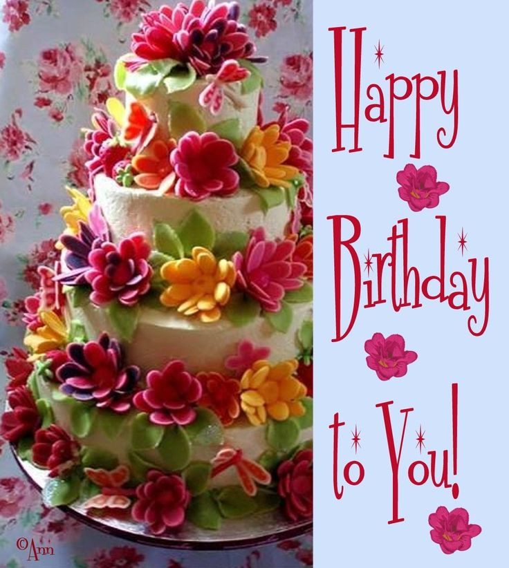 Best ideas about Happy Birthday Flowers And Cake . Save or Pin 23 Delectable Floral Cakes Now.