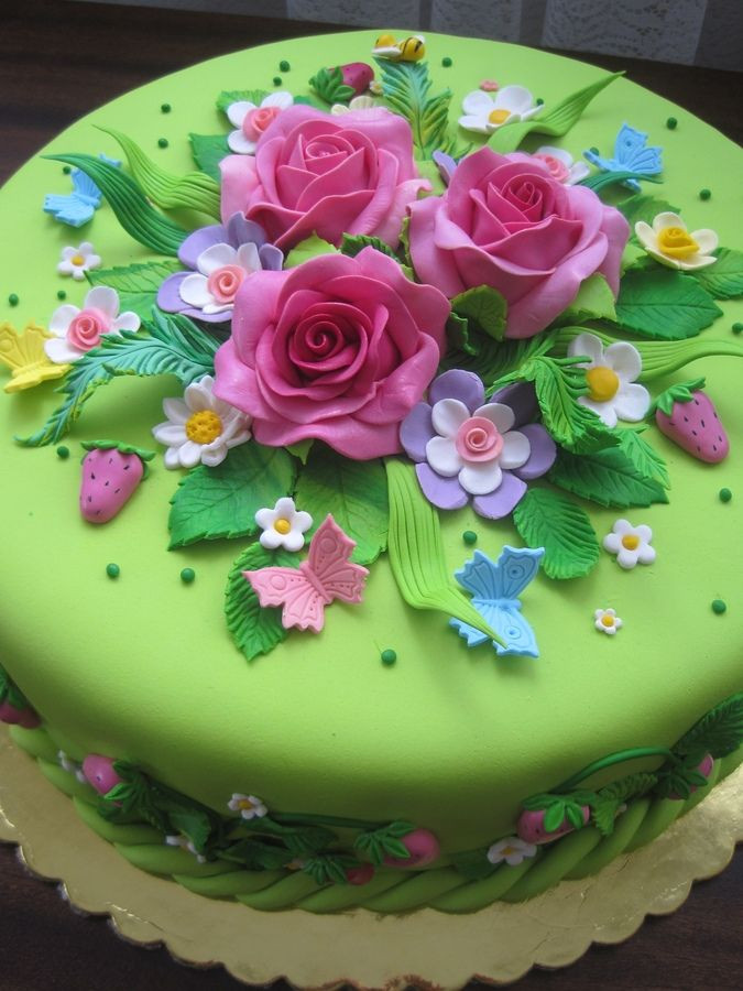 Best ideas about Happy Birthday Flowers And Cake . Save or Pin KatieSheaDesign ♡ Cake SO Sweet Now.