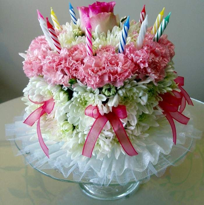 Best ideas about Happy Birthday Flowers And Cake . Save or Pin 83 best images about birthday cards on Pinterest Now.