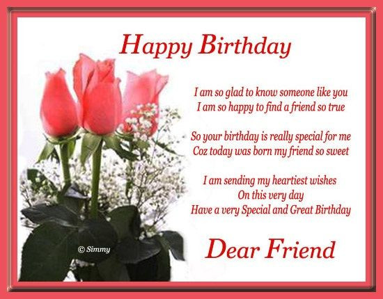 Best ideas about Happy Birthday Friend Wishes . Save or Pin Happy Birthday Dear Friend s and Now.