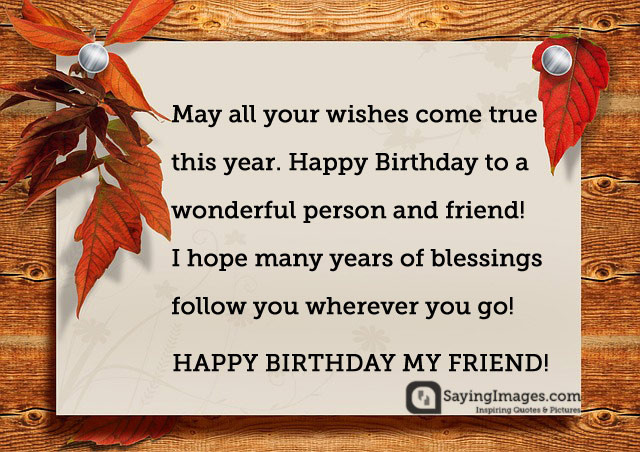Best ideas about Happy Birthday Friend Wishes . Save or Pin Happy Birthday Poems & Now.