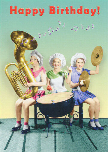 Best ideas about Happy Birthday Funny Woman . Save or Pin Women Playing Instruments Funny Birthday Card Greeting Now.