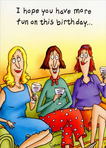 Best ideas about Happy Birthday Funny Woman . Save or Pin Women on Couch Funny Birthday Card Greeting Card by Now.