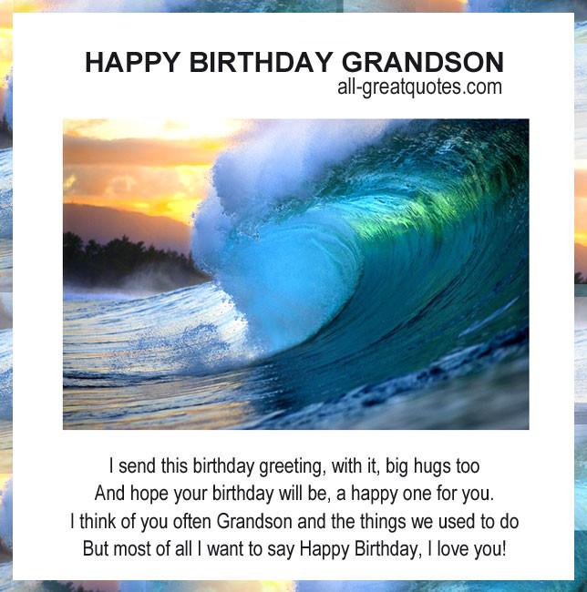 Best ideas about Happy Birthday Grandson Quotes . Save or Pin Happy Birthday Grandson Quotes QuotesGram Now.