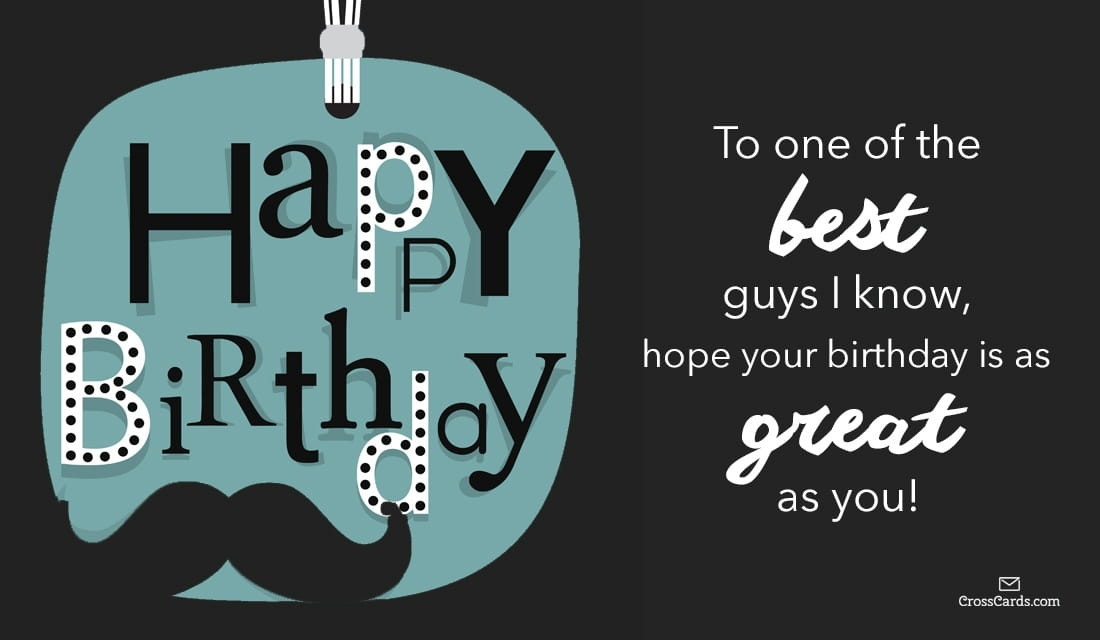 Best ideas about Happy Birthday Guy Friend Funny . Save or Pin Free Happy Birthday to a Great Guy eCard eMail Free Now.