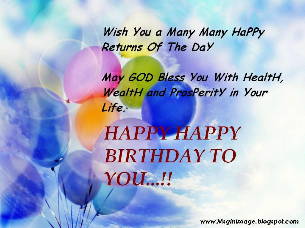 Best ideas about Happy Birthday Image Quotes . Save or Pin of Happy Birthday Quotes Message Message In Image Now.
