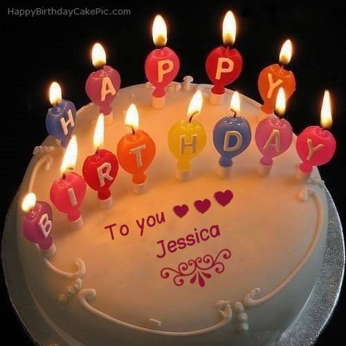 Best ideas about Happy Birthday Jessica Cake . Save or Pin Candles Happy Birthday Cake For Jessica Now.