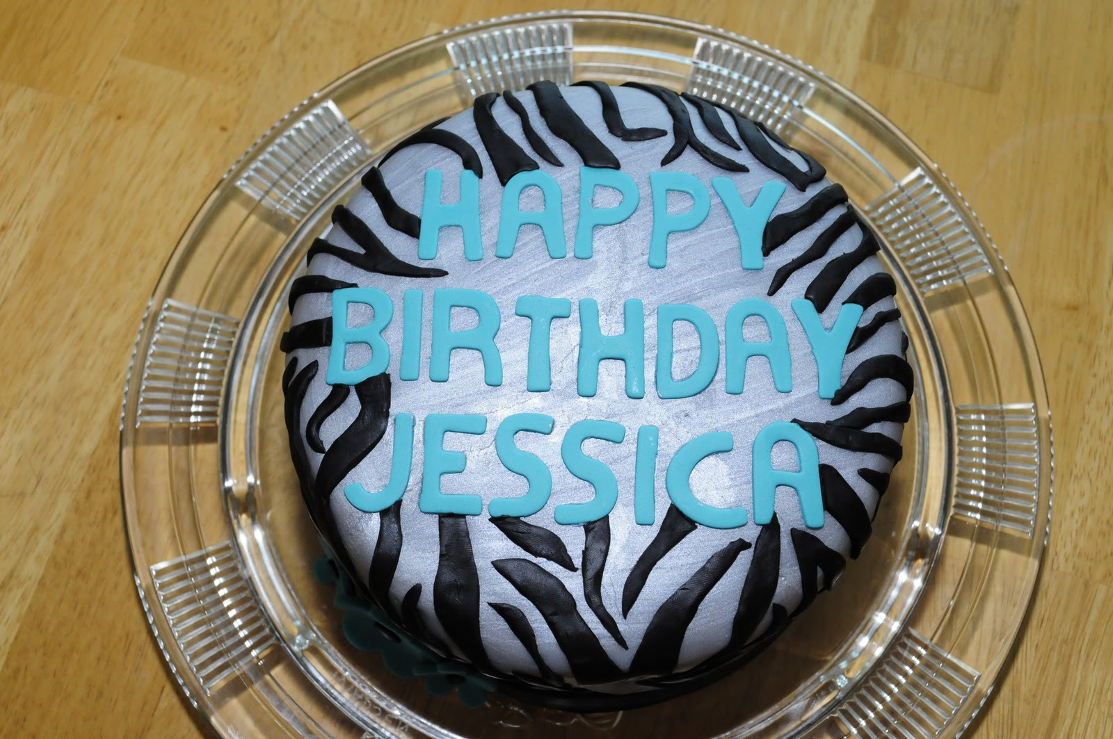 Best ideas about Happy Birthday Jessica Cake . Save or Pin Lindsay s Custom Cakes Silver Zebra Cake Now.