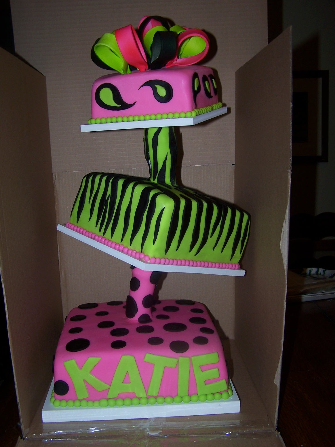 Best ideas about Happy Birthday Katie Cake . Save or Pin Learning To Fly Cakes and Pastries Topsy Turvy Birthday Now.