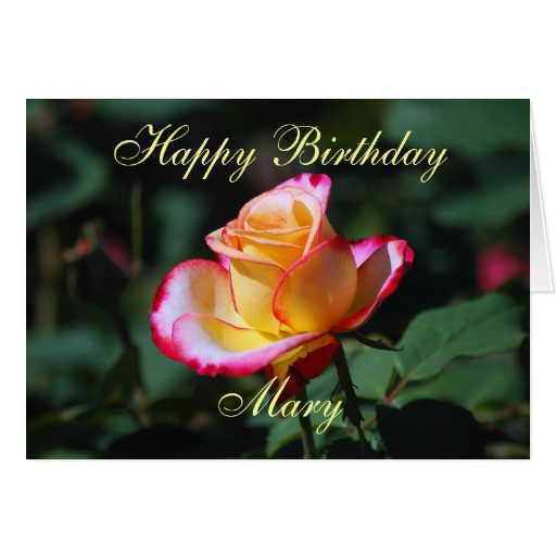Best ideas about Happy Birthday Mary Funny . Save or Pin Mary Happy Birthday Red Yellow and White Rose Cards Now.