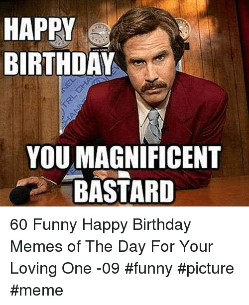 Best ideas about Happy Birthday Memes Funny . Save or Pin HAPPY BIRTHDAY YOU MAGNIFICENT BASTARD 60 Funny Happy Now.