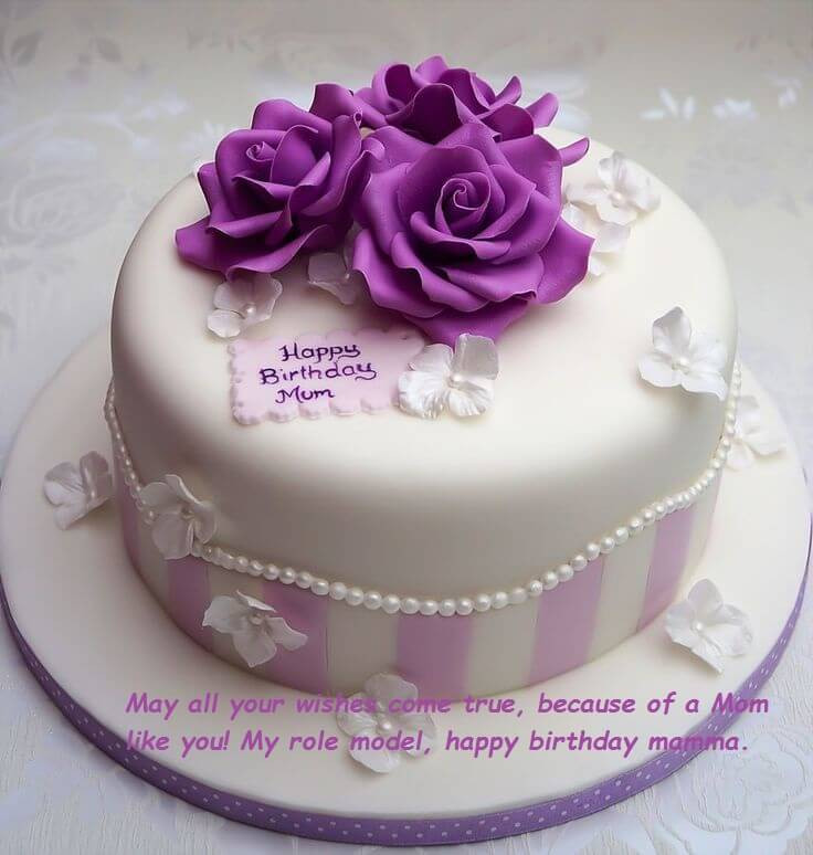 Best ideas about Happy Birthday Mom Cake . Save or Pin Birthday Cake Wishes For Mom Now.