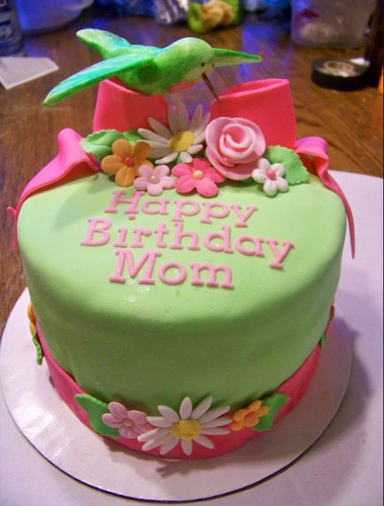 """Best ideas about Happy Birthday Mom Cake . Save or Pin """"Happy Birthday Mom"""" cake Cake Now."""