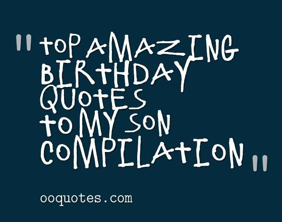 Best ideas about Happy Birthday Mom Quotes From Son . Save or Pin Birthday Quotes For Son QuotesGram Now.