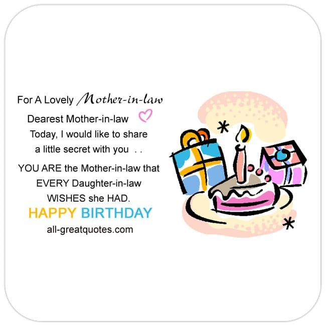 Best ideas about Happy Birthday Mother In Law Funny . Save or Pin For A Lovely Mother In Law Now.