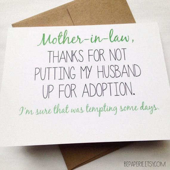 Best ideas about Happy Birthday Mother In Law Funny . Save or Pin Mother in Law Card Mother s Day Card Mom Birthday Card Now.