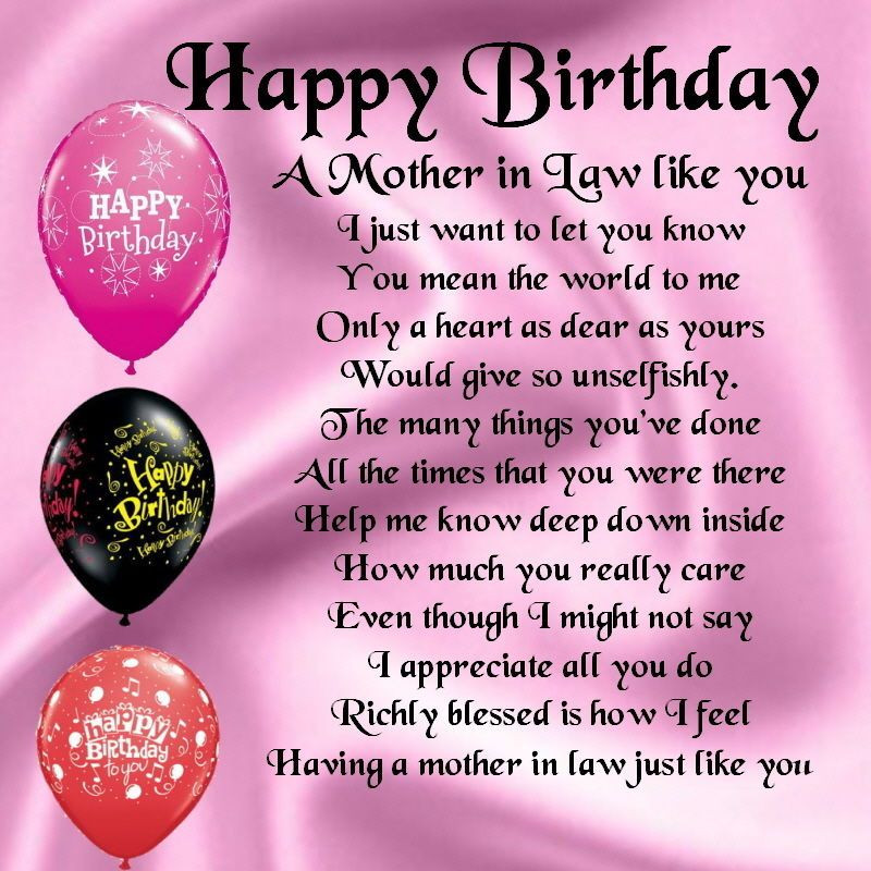 Best ideas about Happy Birthday Mother In Law Funny . Save or Pin Personalised Coaster A Mother in Law Poem Happy Birthday Now.